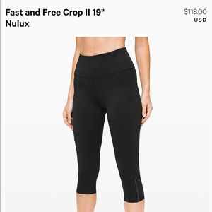 Lululemon Fast and Free crop